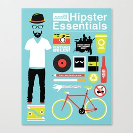 Hipster Essentials Canvas Print