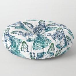 Min Pin Blue Mosaic Floor Pillow