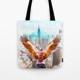 New York Icarus Watercolor Tote Bag