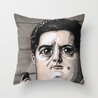dale cooper Throw Pillows featuring Dale Cooper by Drawn by Nina