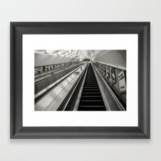 Leicester Square Tube 5am (Cold) Framed Art Print
