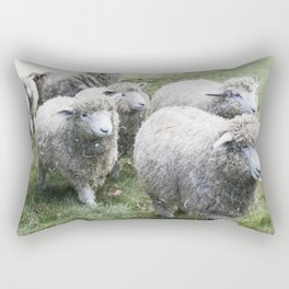 Herd of white sheep Rectangular Pillow