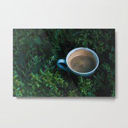 Garden Coffee - Photograph Metal Print