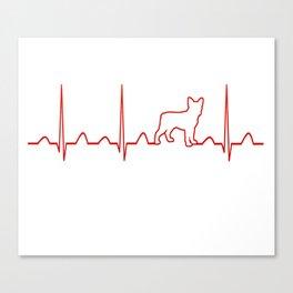 Boston Terrier Heartbeat Canvas Print