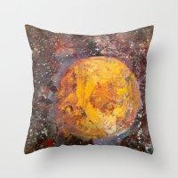 lunar Throw Pillows featuring Lunar  by Evan Hawley