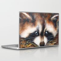 rocket raccoon Laptop & iPad Skins featuring Raccoon by Patrizia Ambrosini
