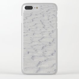 wavy snowy surface Clear iPhone Case