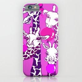 Bubblegum Giraffes iPhone Case