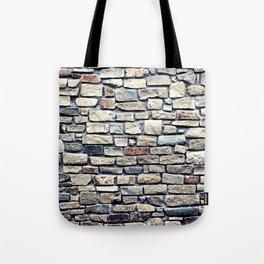 Grey tiles brick wall Tote Bag