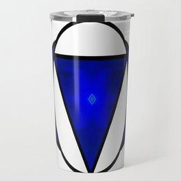 Deep Blue Awareness Abstract Chakra Art  Travel Mug