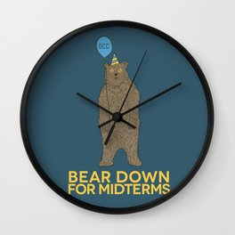 Bear Down for Midterms Wall Clock
