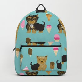 Yorkie ice cream gifts yorkshire terrier dog lover pet friendly patterns minty Backpack