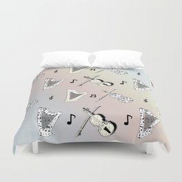 Orchestra Music Duvet Cover