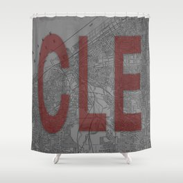 HOME IS CLE Shower Curtain