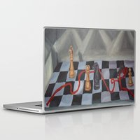 chess Laptop & iPad Skins featuring Chess by Lark Nouveau Studio