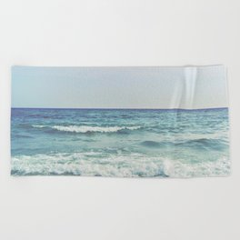 Ocean Crashing Waves Beach Towel