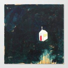 Church on Dark Canvas Print
