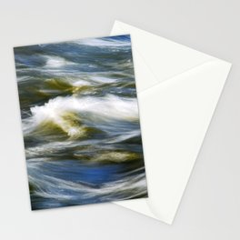 Waves Abstract Stationery Cards