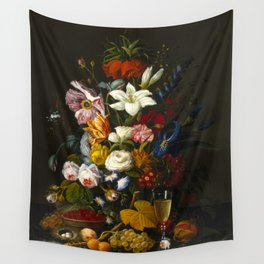 Victorian Bouquet by Severin Roesen Wall Tapestry