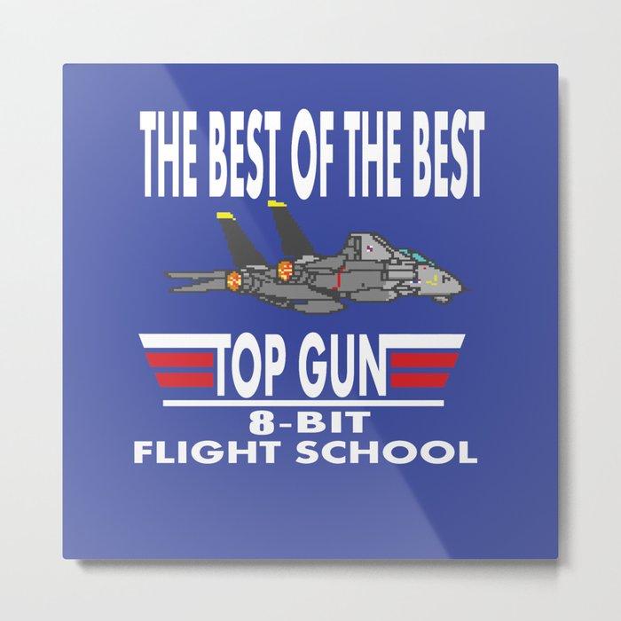 8-Bit Flight School Metal Print