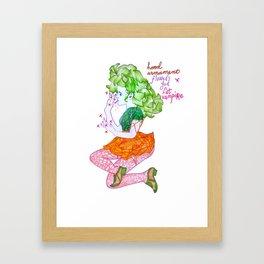 finger biter Framed Art Print