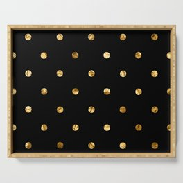 Black & Gold Serving Tray