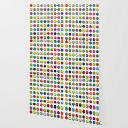 Multi-coloured Pills Pattern square Wallpaper