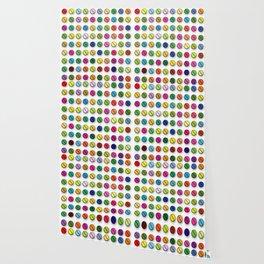 Colorful Pills Pattern Cool Modern Art Graphic Illustration Wallpaper