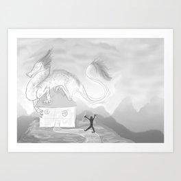 Shoo Art Print
