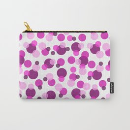 Pink and Purple Spots Carry-All Pouch