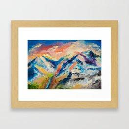 HIMALAYAN LANDSCAPE Framed Art Print
