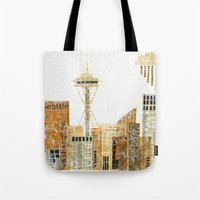 seattle Tote Bags featuring SEATTLE by Susan Najarian Design