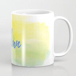 Yellow Green Watercolor Ethan Coffee Mug