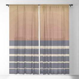 Retro Sunset Sheer Curtain