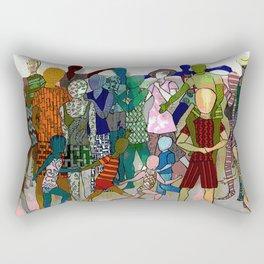 To the Beach by Lesley Nolan Rectangular Pillow
