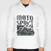 sport Hoodies featuring Motor Sport by Tshirt-Factory