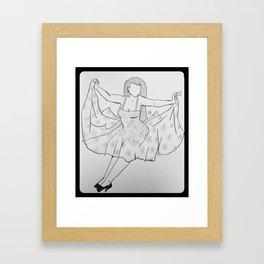 Falling Femme. Framed Art Print