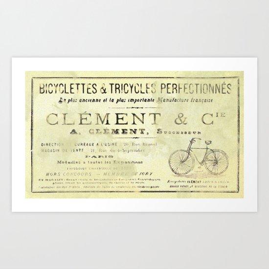 Bicyclette Art Print