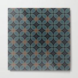 Metallic Deco Blue Metal Print