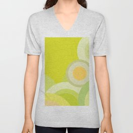 Yellow Lemon - Color of Accessories and Home Style Unisex V-Neck