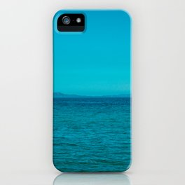 Blue Sea and Sky iPhone Case