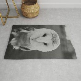 Black and White Owl Rug