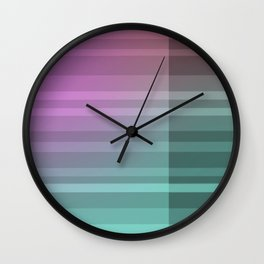 Coloured Intersection Wall Clock