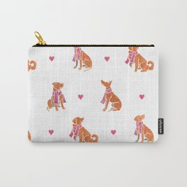 Watercolour dogs - orange theme Carry-All Pouch