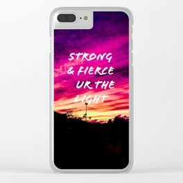 Strong and fierce Clear iPhone Case