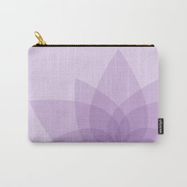 Puple Lotus Carry-All Pouch