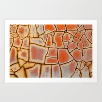 cracked Art Prints featuring Cracked by Kathy Dewar