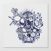 doodle Canvas Prints featuring Doodle by Puddingshades