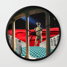 Red Dunes Wall Clock