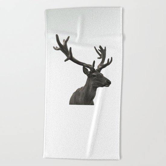 Single Deer Beach Towel